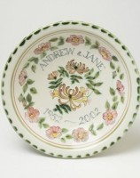 Rye Pottery hand-painted Dogroses design, available on bowls and plates only