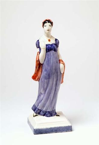 Rye Pottery Lady Emma Hamilton figure