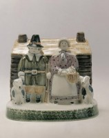 Rye Pottery - Pastoral Collection - New England Settlers ht 15cm 6 in Desingers Tarquin Cole & Chris O'Donoghue