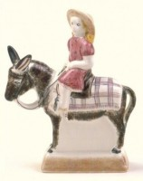 Rye Pottery - Hand painted figures - Pastoral Collection - Beach Girl
