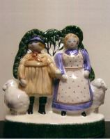 Rye Pottery - Hand painted Pastoral Series - Shepherd Neame & His Wife of Sussex - from an original design by Joan de Bethel