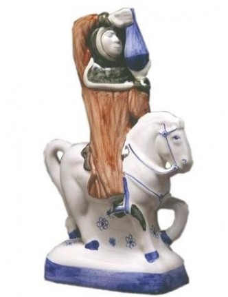 Rye Pottery Figures from Chaucer's Canterbury Tales- The Doctor of Physic Ht 22cm