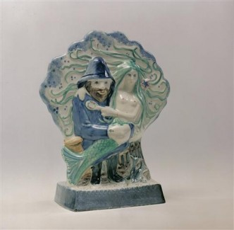 Rye Pottery - Pastoral Collection - Fisherman's Tale ht 25.5cm 10 in designer Wendy Johnson