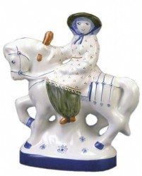 THE WIFE OF BATH - Part of Rye Pottery's Hand-painted Canterbury Tales Range