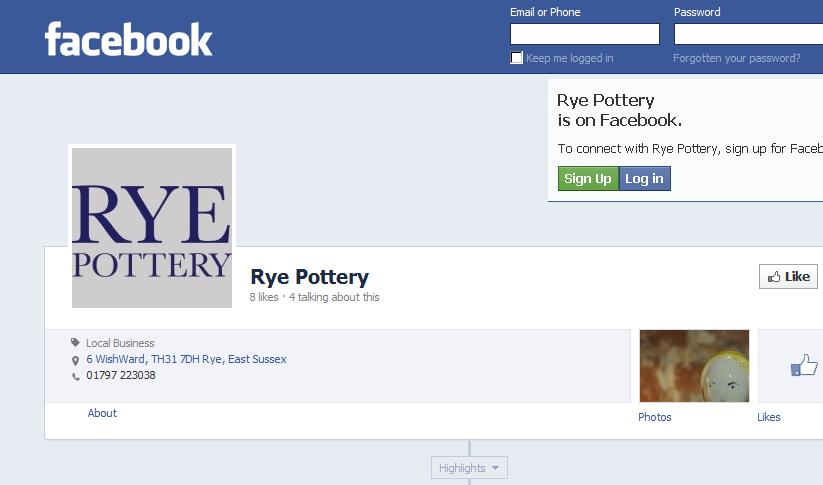 Rye Pottery is on Facebook!