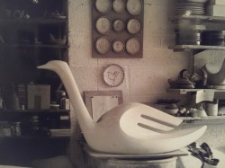 "Wally Cole's ""Swan"" sculpture - photograph by David Crew"