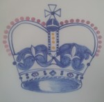 Rye Pottery Commemorative ware - A detail from the large bowl celebrating the 60th anniversary of the Queen's Coronation