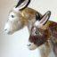 Country Riding Gift Donkey Rye Pottery - English Animals - Hand-made Ceramic Donkey large and small