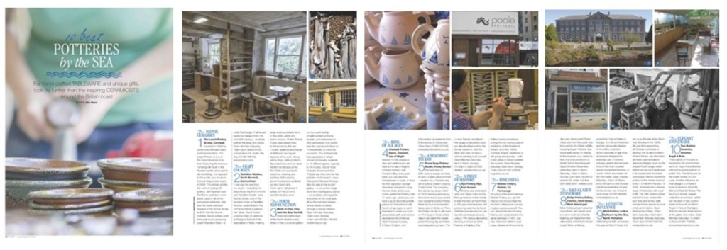 Coast Magazine - Ten Best Potteries - November 2014