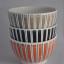Rye Pottery - Mid Century Modern Ceramics - Cottage Stripe - Little Bowls