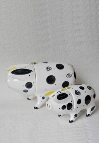 Traditional ceramic wedding Gift, hand made Sussex pig by Rye Pottery
