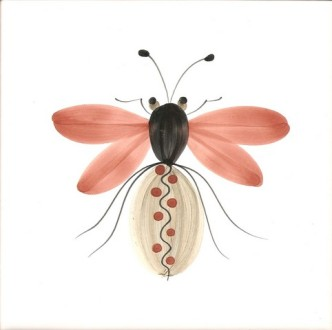 Hand painted Tiles Bugs