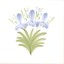 Hand painted flower tiles - Rye Pottery Iris