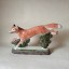 Country Fox Gift Hunting Rye Pottery - English Animals - Hand-made Ceramic Vixen or Fox Front