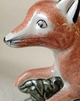 Country Fox Gift Hunting Rye Pottery - English Animals - Hand-made Ceramic Vixen or Fox