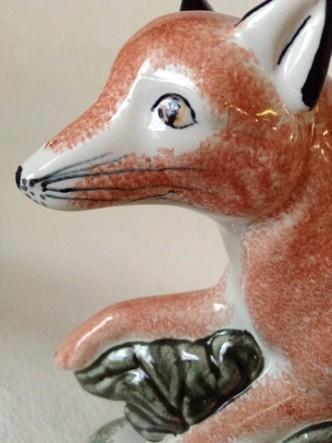 Country Fox Gift Hunting Rye Pottery - English Animals - Hand-made Ceramic Vixen or Fox
