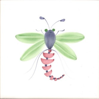 Rye Pottery Hand-painted Bug Insect Tiles