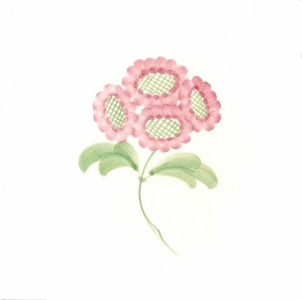 Rye Pottery Hand-painted FLower Tiles Retro Daisy
