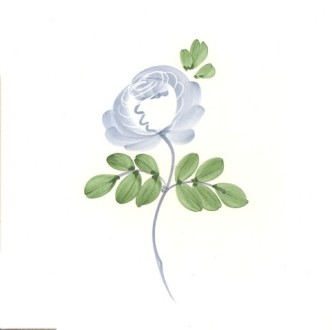 Rye Pottery Hand-painted Flower Tiles Rose
