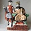 Rye Pottery - hand made and hand painted 1066 Bayeux Tapestry Inspired Series - Edward the Confessor and the Duke Harold 2