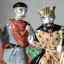 Battle of Hastings Gift Medieval History Bayeux Tapestry 1066 Gift Harold Godwinson Harold II Rye Pottery hand made & painted Ceramic figure of Edward the Confessor and Duke Harold