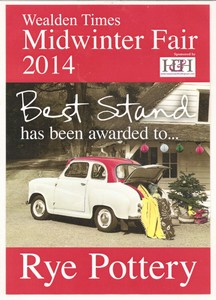 Wealden Times Best Stand MidWinter Fair Christmas 2014 med1