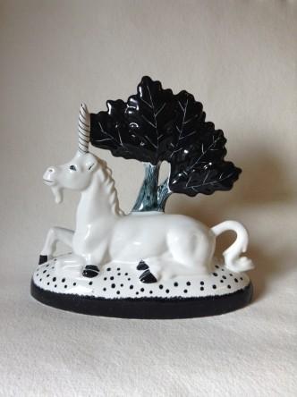 Hand made & hand painted Rye Pottery Ceramic Unicorn4