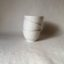 Rye Pottery Hand made and hand decorated little bowls in all white textured tracery