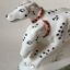 Rye Pottery Hand made and hand painted ceramic dog figure of Dalmations