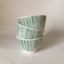 Rye Pottery Hand made and hand painted striped little bowls Cottage Stripe in Denmark Green straight lines painted by hand1