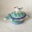 Turtle seagull gift Quirky Rye Pottery Hand made and painted Ceramic Animal Figures The Turtle Dish with seagull perched on the back. A dish