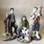 Rye Pottery Hand made and painted Ceramic Nativity Mary Joseph Child plus three Shepherds and three Kings Ceramic