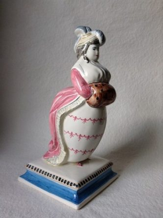 Rye Pottery Hand made and painted Prince Geroge and Miss Fitzherbert Rowlinson Cartoons Brighton Pavilion ceramic