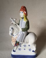 Canterbury Tales Chaucer gift Rye Pottery Hand made and painted Chaucer Canterbury Tales The Pardoner