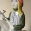 Rye POttery Hand made and painted Chaucer Canterbury Tales The Pardoner1