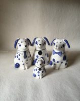 Rye Pottery Hand made and hand decorated ceramic Puppies and Dogs