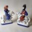 Rye Pottery Hand made and painted figures from Chaucer Canterbury Tales The GUildsmen and their wives - The Weaver and his wife11