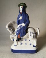Rye Pottery Hand made and painted figures from Chaucer Canterbury Tales The Monk with Hounds6