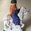 Canterbury Tales Chaucer gift Rye Pottery Hand made and painted figures from Chaucer Canterbury Tales The Nuns Priest