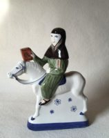 Rye Pottery Hand made and painted figures from Chaucer Canterbury Tales The Oxford Cleric1
