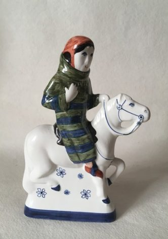 Rye Pottery Hand made and painted figures from Chaucer Canterbury Tales The Sergeant at Law1