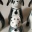 Rye Pottery hand made ceramic animals figures Puppies and Dogs