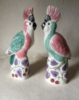 Bird Cockatoo gift Rye Pottery Hand made and hand painted Cockatoo Exotic Birds 2