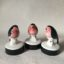 Gardeners-Friend-gift-Robin-Ceramic-Black Bird Gift Rye-Pottery-Hand-made-and-decorated-Little-Robin-in-Black-and-Coral1