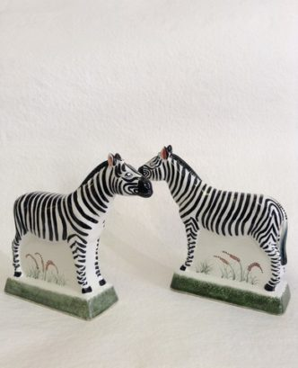 Zebra safari Gift Wildlife Rye Pottery Hand made and painted Exotic Animal Collection - The Zebra