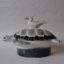 Turtle Seagull Gift Quirky Ceramic Dish Rye Pottery Hand made and painted Ceramic Animal Figures The Turtle Dish with seagull perched on the back. A dish2