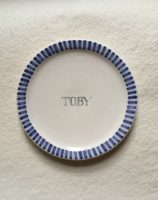 Named Pottery Plate small for Children with names Hand made personalised gift