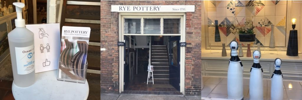 Rye Pottery is Now Open Social Distancing and Hygiene protocols are in place to keep customers and staff safe. Appointments, curbside pick-up and mail order all available. Masked Pottery Figure Features